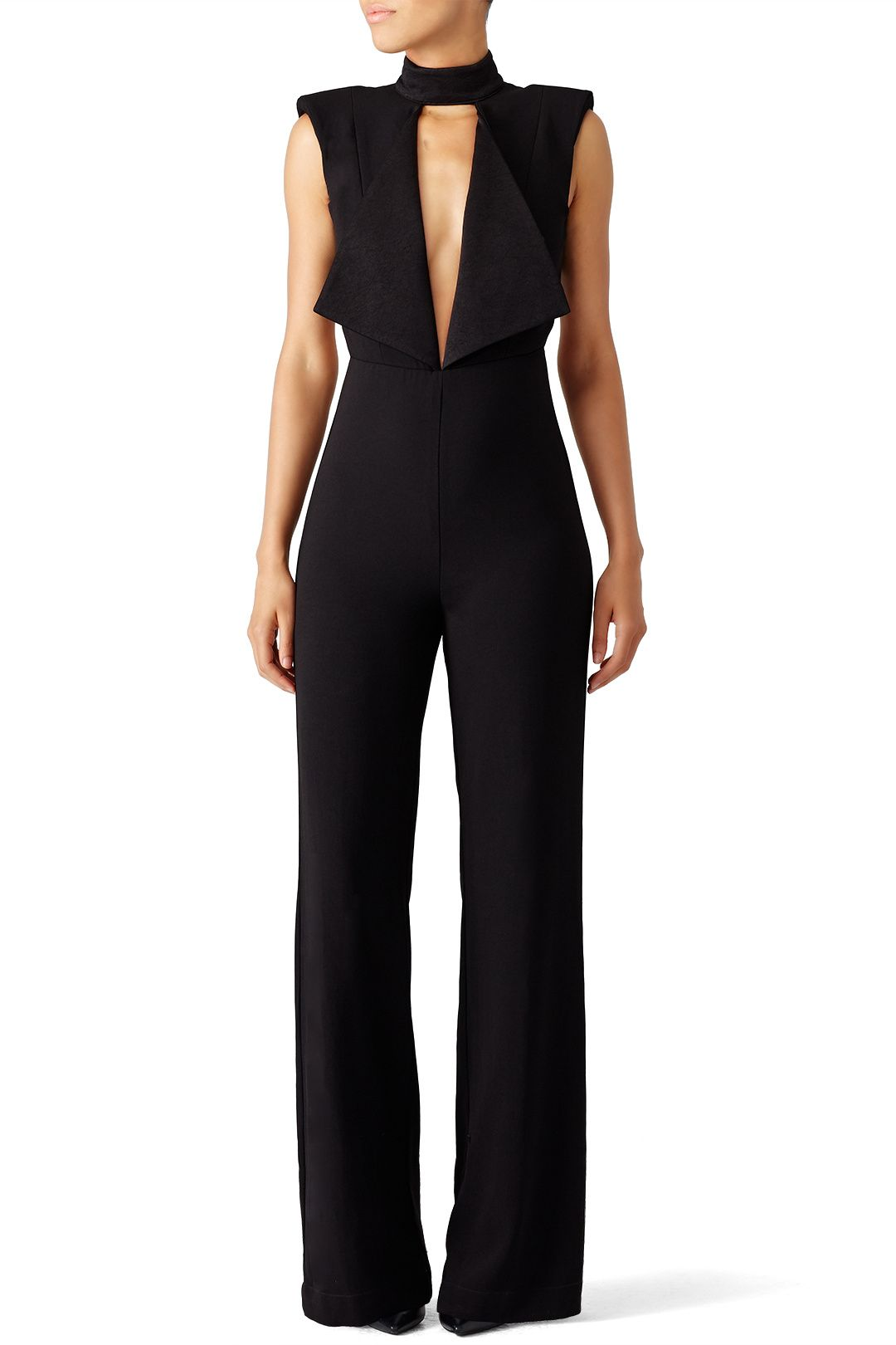 75b69bc2bf Rent Black Open Neck Jumpsuit by Misha Collection for  70 -  85 only at  Rent the Runway.