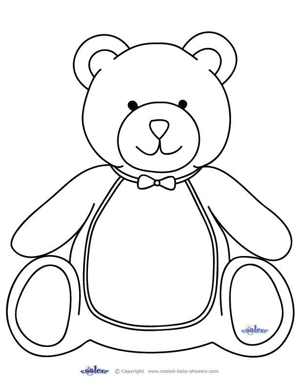 40 Beautiful Printable Teddy Bear Template Template Free Avas