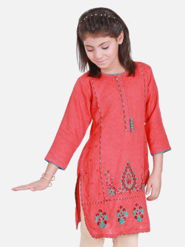 Girls Kurta Pakistani Indian Embroidery Kurti Kids Readymade Clothes