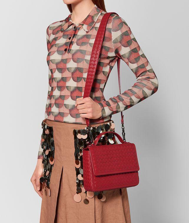 Bottega Veneta®   China Red Intrecciato Nappa Alumna Bag   The structured  silhouette of this eecade7d23