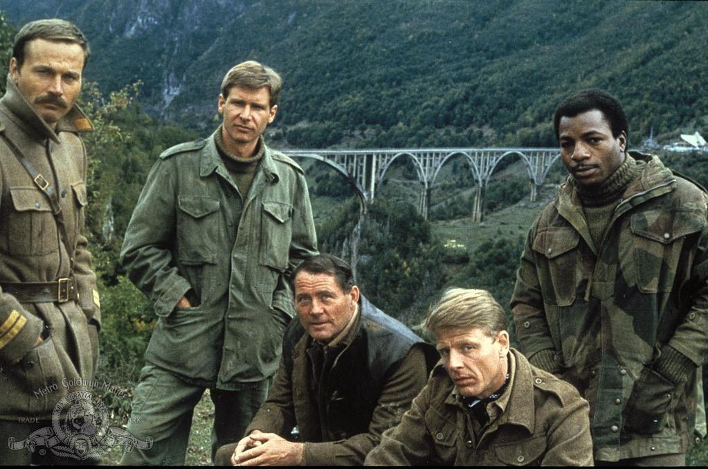Still Of Harrison Ford, Robert Shaw, Carl Weathers, Edward Fox And Franco Nero In Styrka 10 Från Navarone (1978)