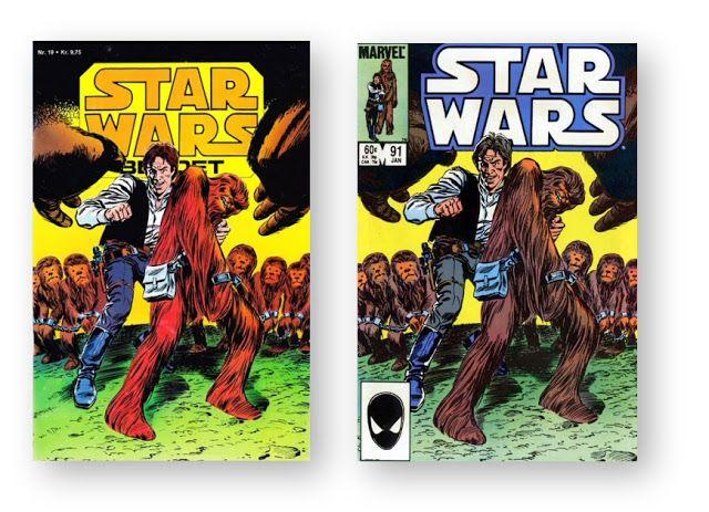 Star Wars tegneserier: Dansk forside til Star Wars Bladet