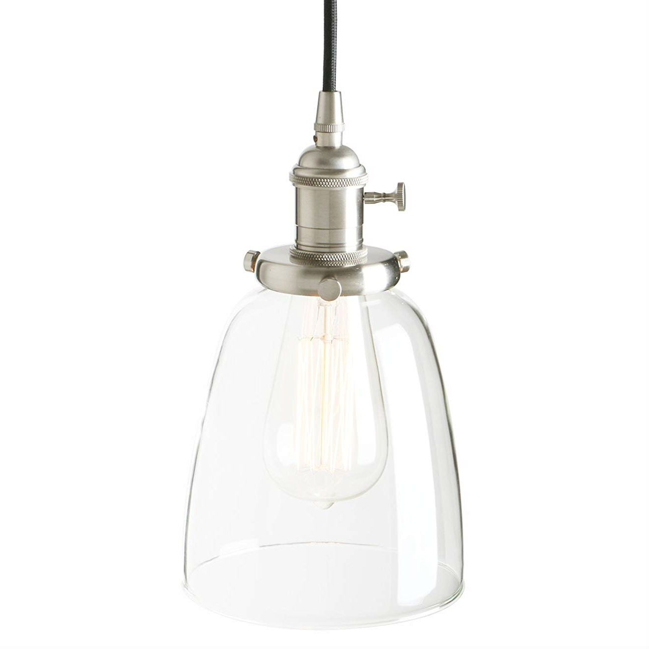 Pathson Bell Glass Industrial Vintage Edison Pendant Light