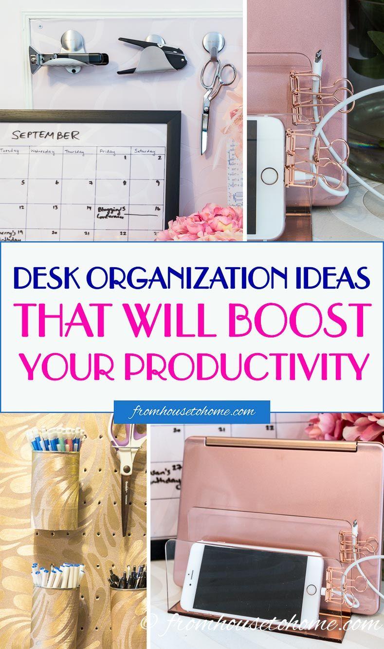 10 Desk Organization Ideas For The Most Organized Desk Ever