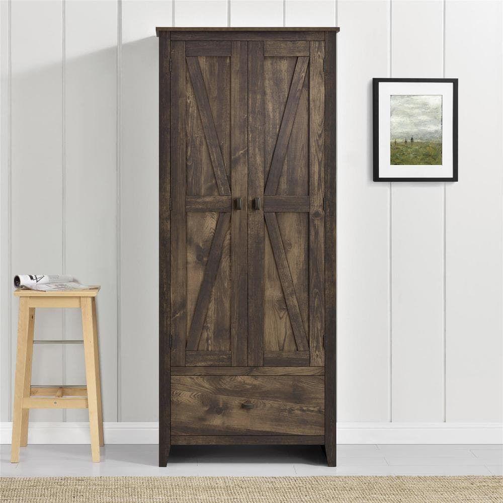 Avenue greene becken ridge brown inch wide storage cabinet