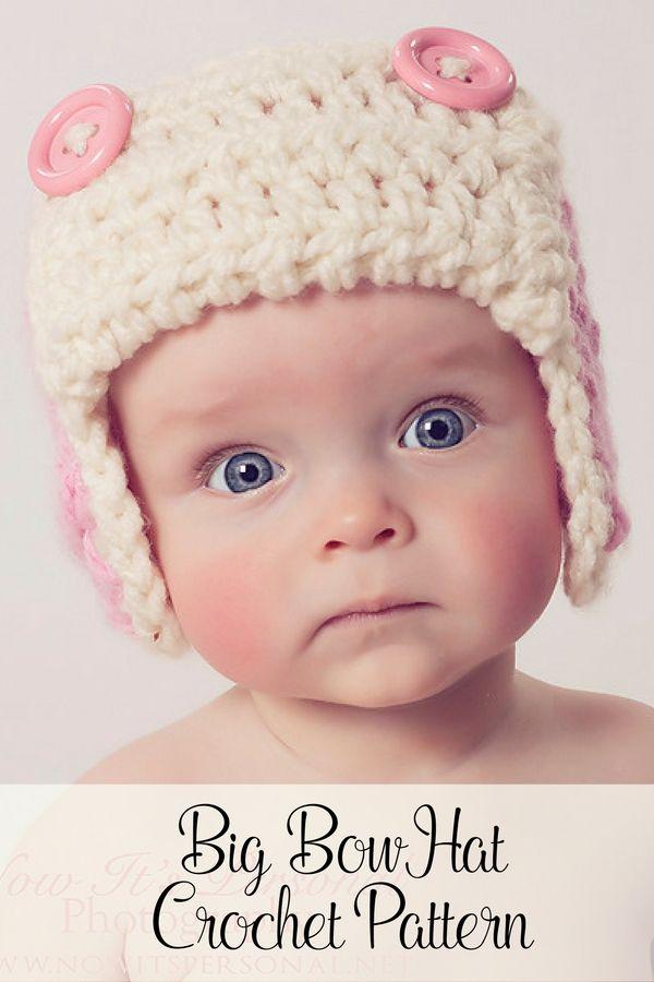 Crochet PATTERNS - Aviator Earflap Pattern - Crochet Pattern Baby ...