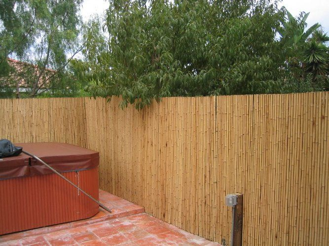 Great Bamboo Fencing Over Chain Link Bamboo Fence On Chain Link
