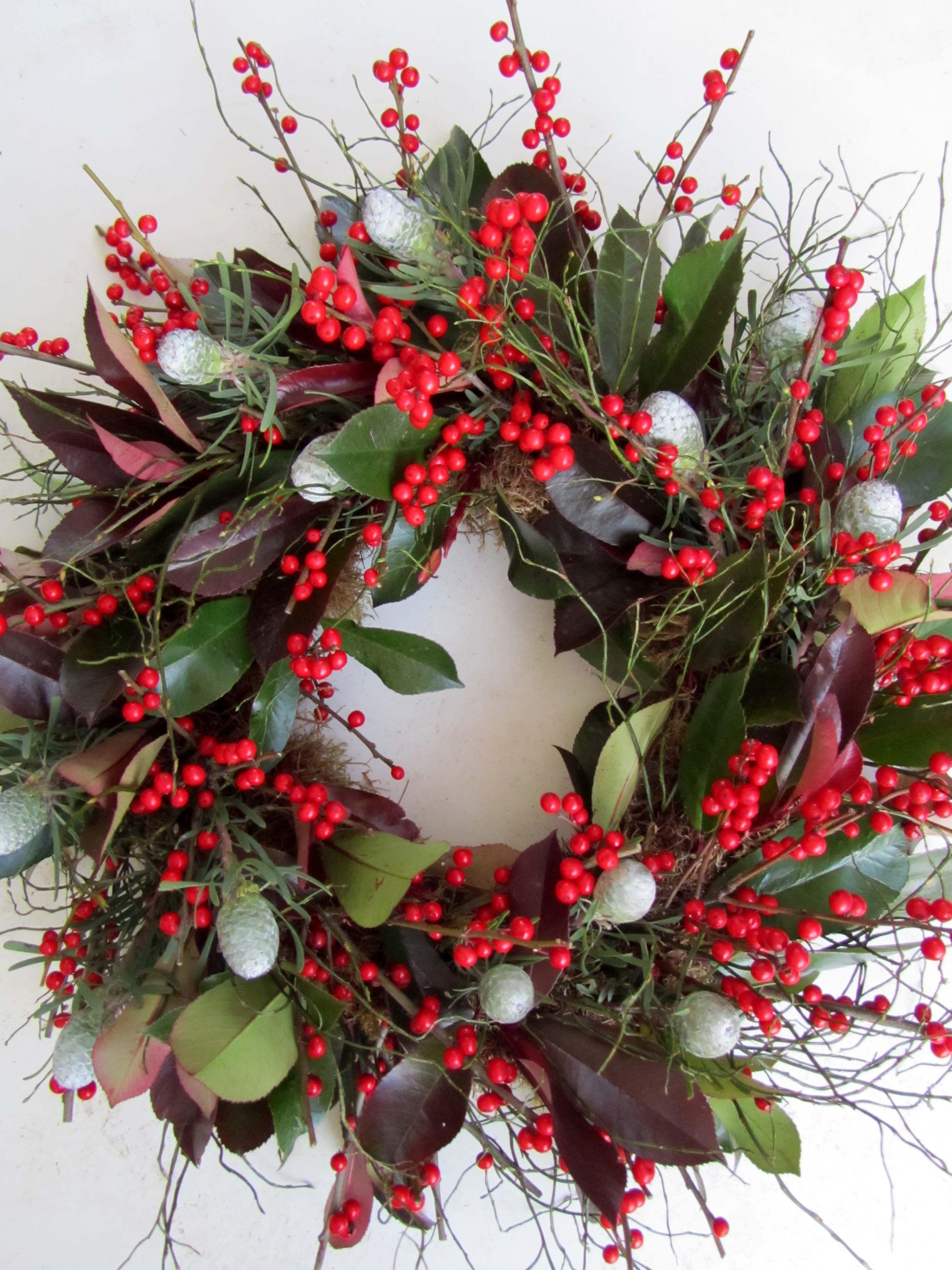 Boutique Blooms Floral Design Christmas door wreath decoration