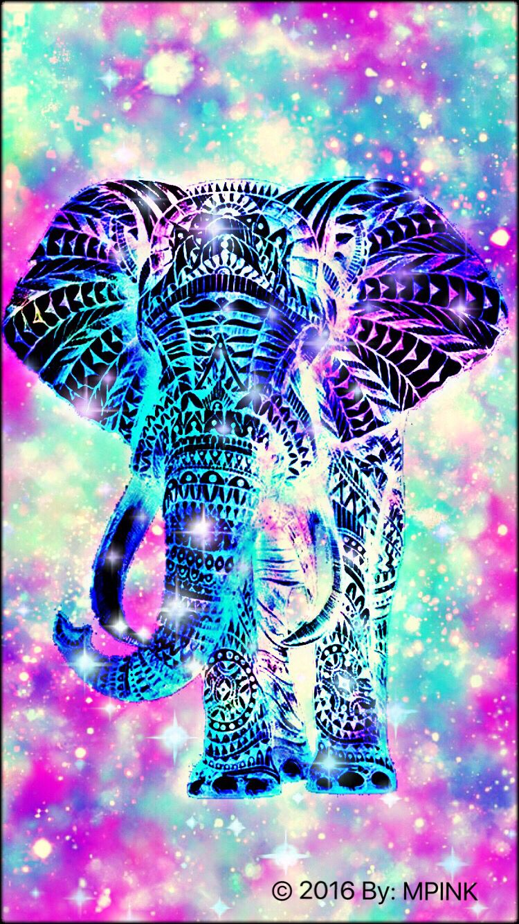 2016 elephant hipster wallpaper created by me - Elephant background iphone ...