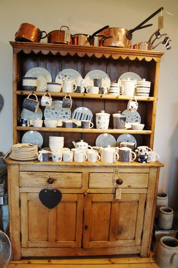 Vintage Irish Pine Dresser Country Cottage Kitchen Country