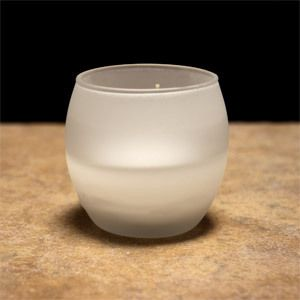 Roly Poly Filled Glass Frosted Container Candle  Can be used as part
