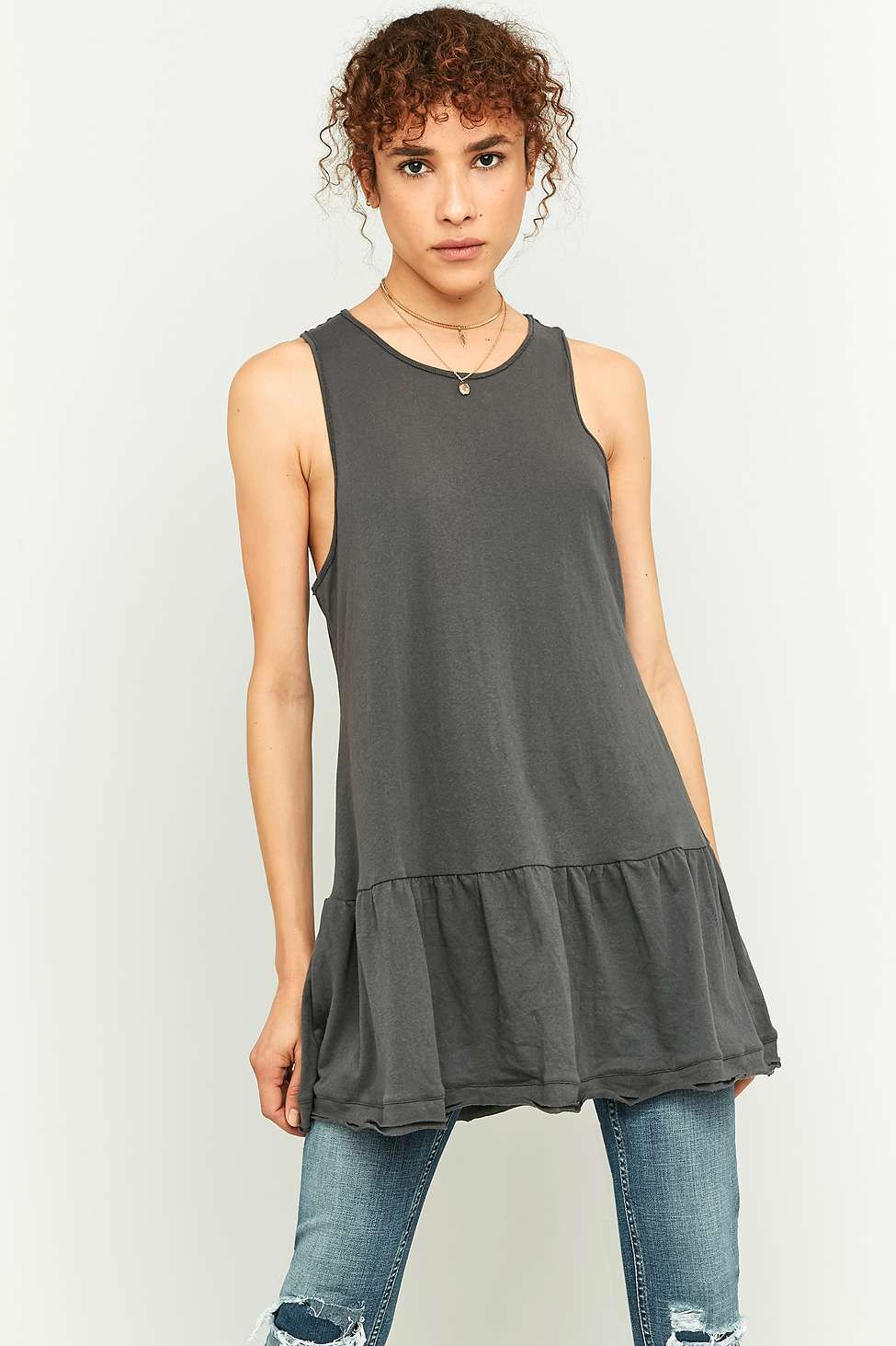Free People Brittany Black Peplum Dress