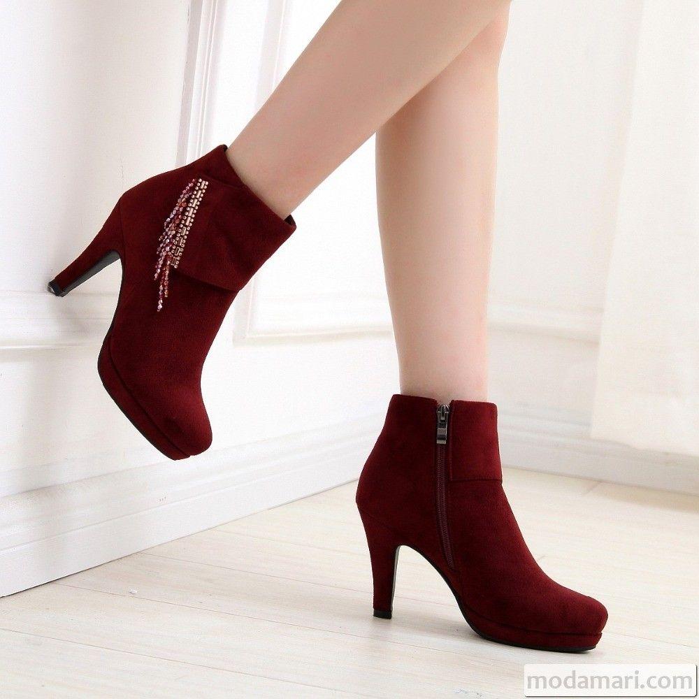 2017 Bayan Topuklu Ayakkabi Modelleri Modamari Heels Beautiful Heels Stiletto Boot