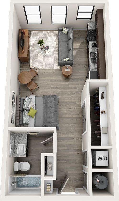 23 Amazing Studio Apartment Layout Ideas In 2020 In 2020 Studio Apartment Floor Plans Apartment Layout Studio Apartment Decorating