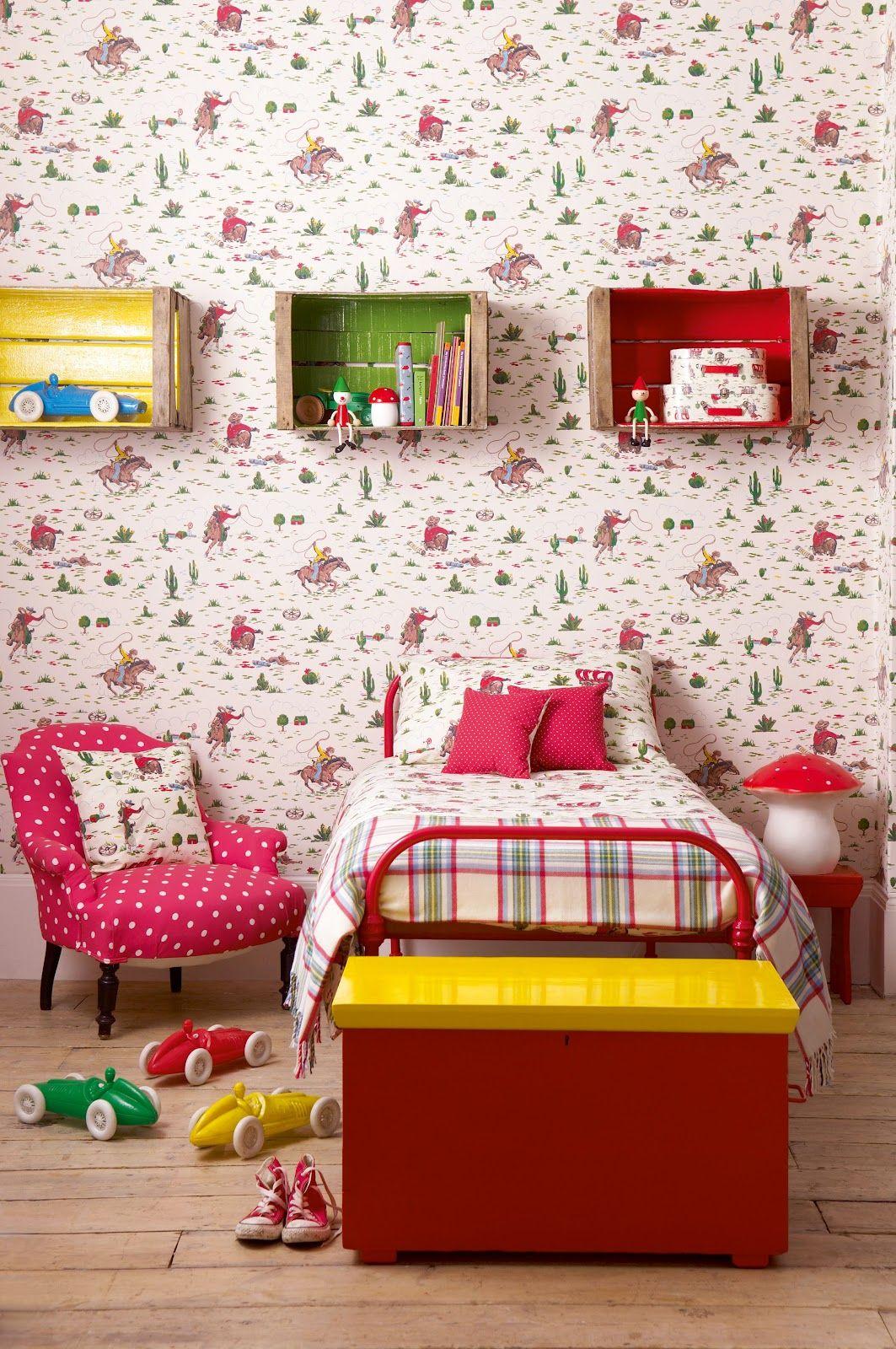 Cath Kidston Wallpaper Polka Dots And Plaid