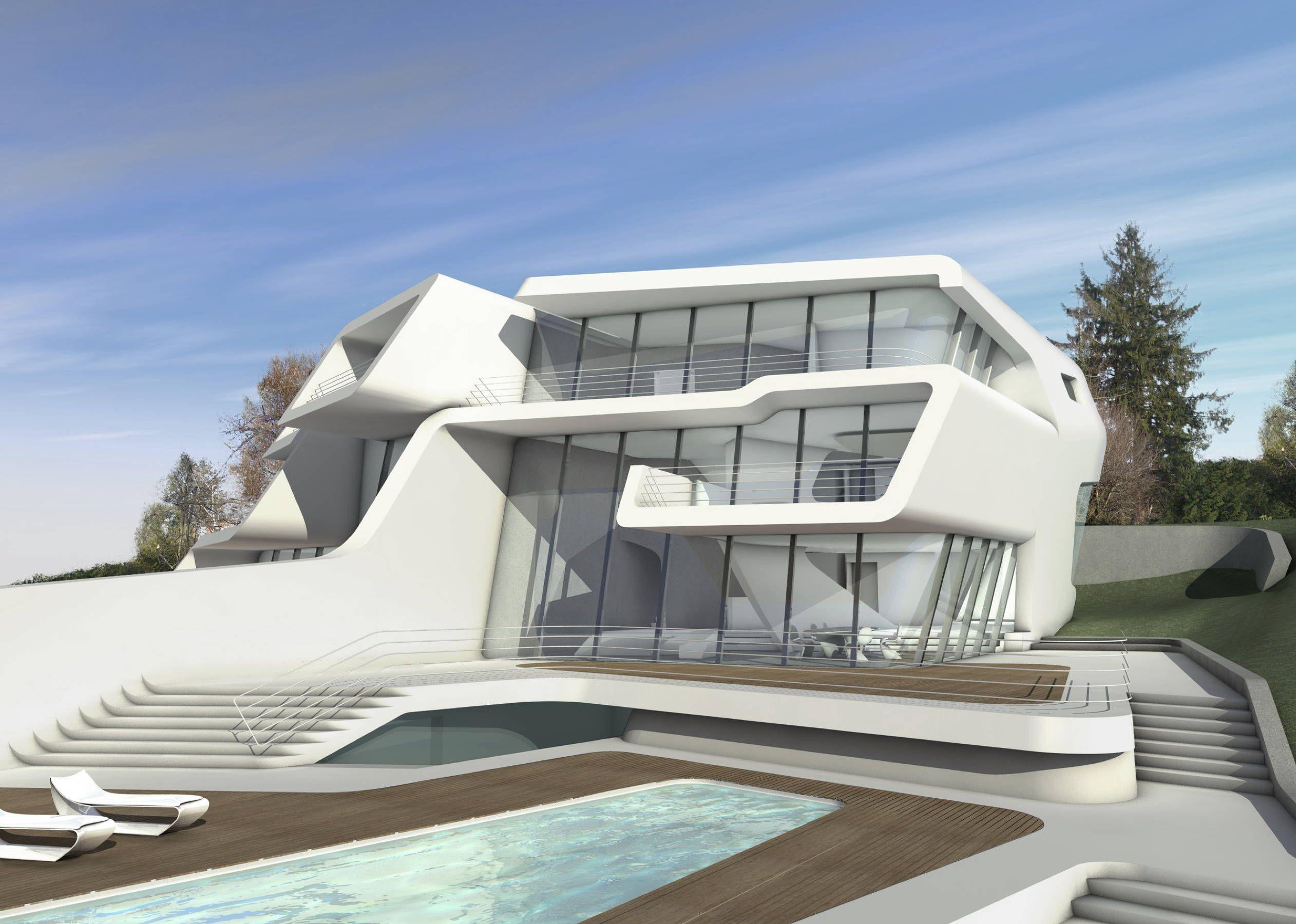 Küsnacht Villa, Zurich, Switzerland © Zaha Hadid Architects | Modern ...