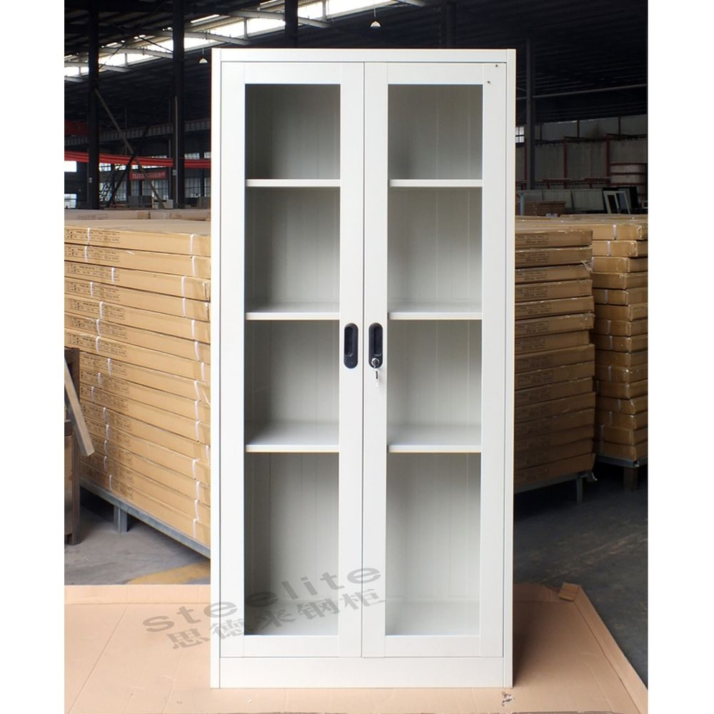 Lab Storage Cabinet With Glass Doors
