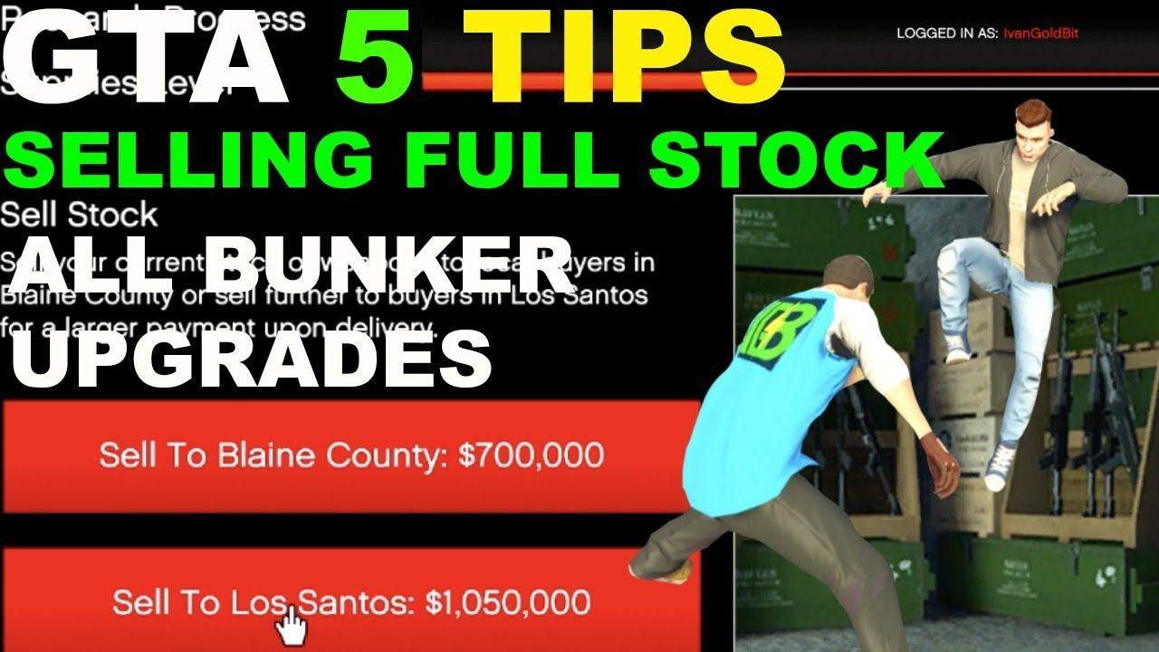 Gta 5 gunrunning sell stock selling full stock all