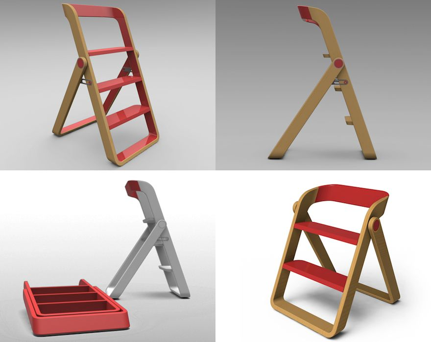 Step Ladder From Object Creative