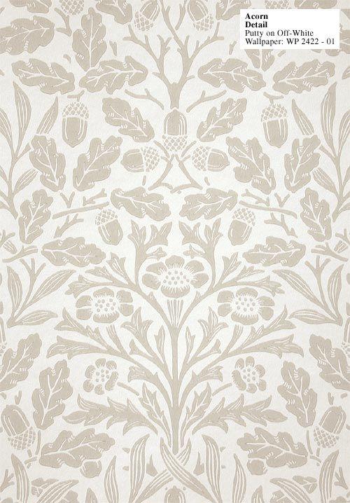 Acorn Wallpaper by William Morris - Historic Style | Wallpaper ...