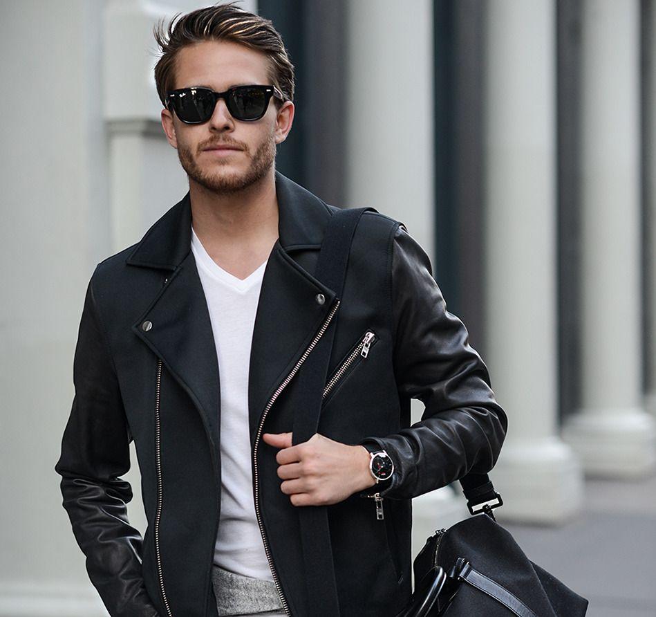 Mens leather gloves topman - Topman Leather Neoprene Jacket Club Monaco Cashmere Sweater Aldo Sneakers Ag Jeans
