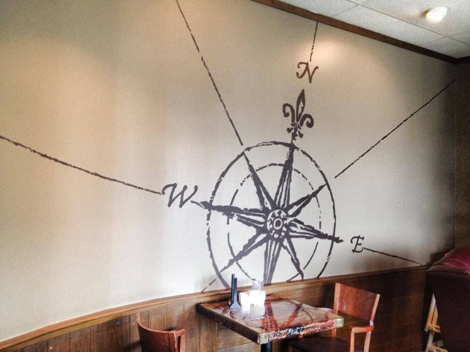 Cool idea for a nautical room from the wall at dimillos
