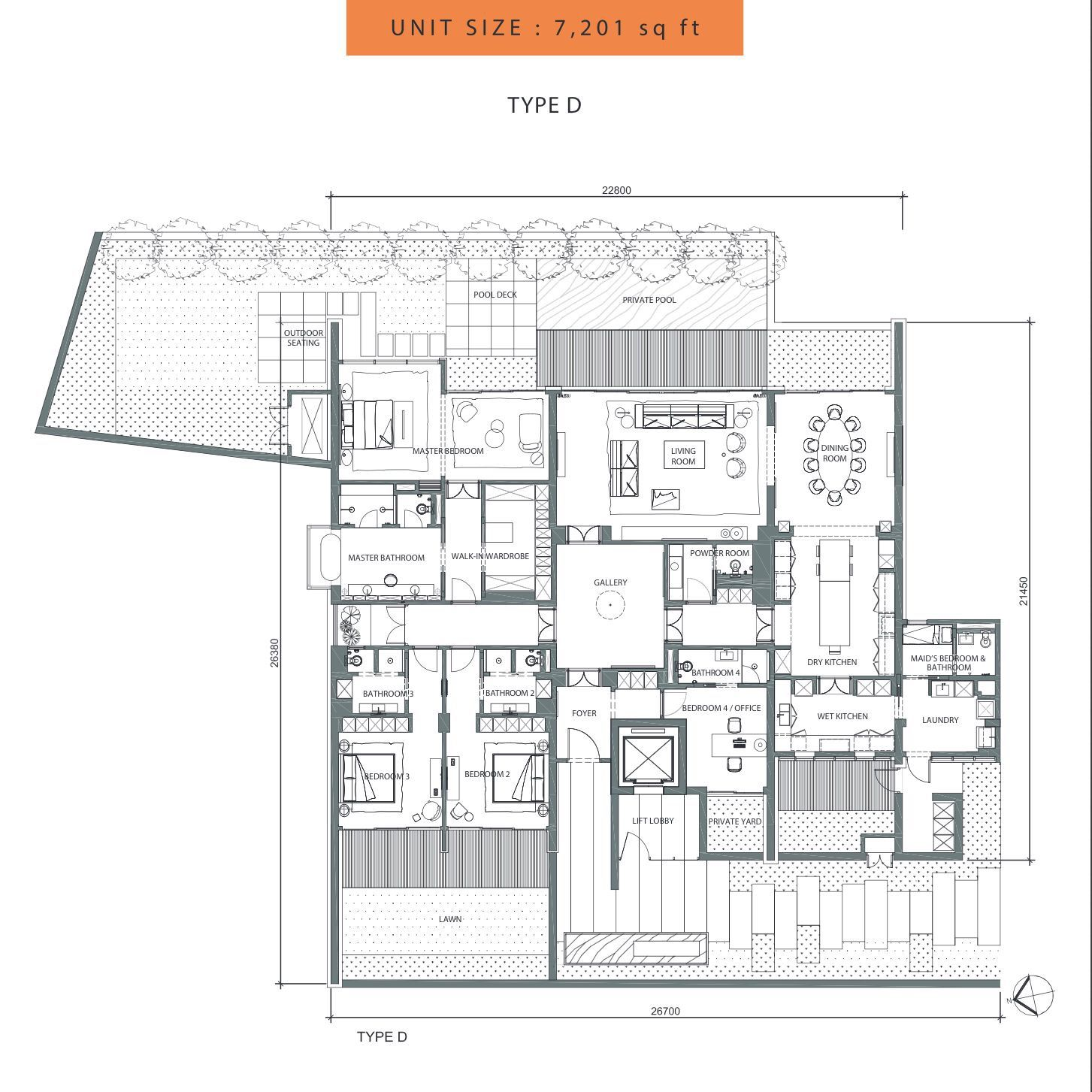 Pin En Floor Plan Condominium House Villa