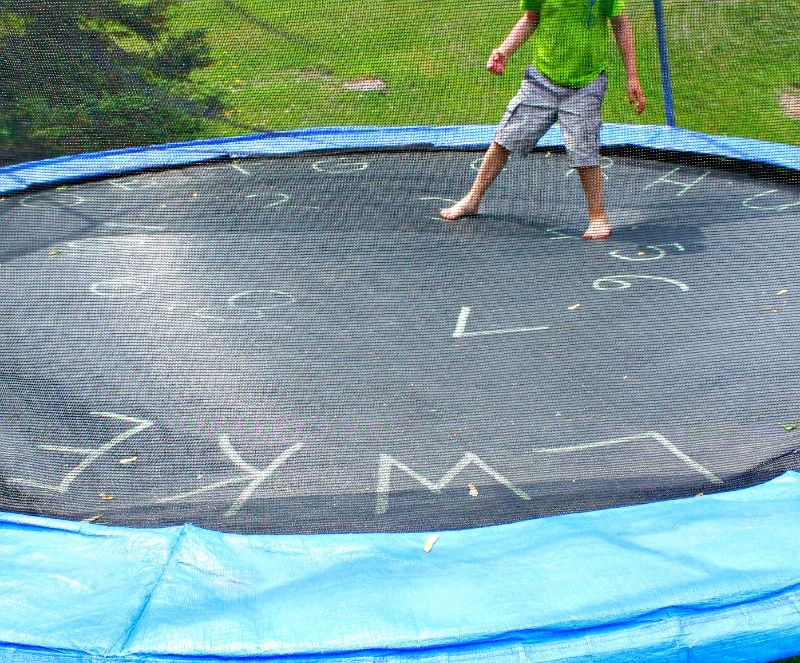 Fun Trampoline Games for Learning Letters Trampoline