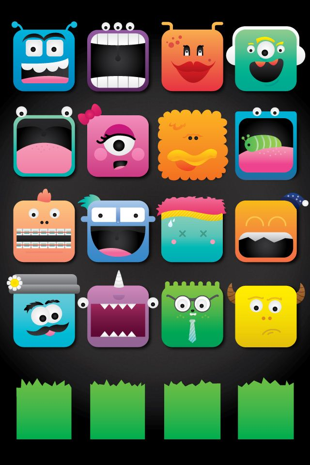 Monster in the wild Icon Iphone wallpaper app, Iphone