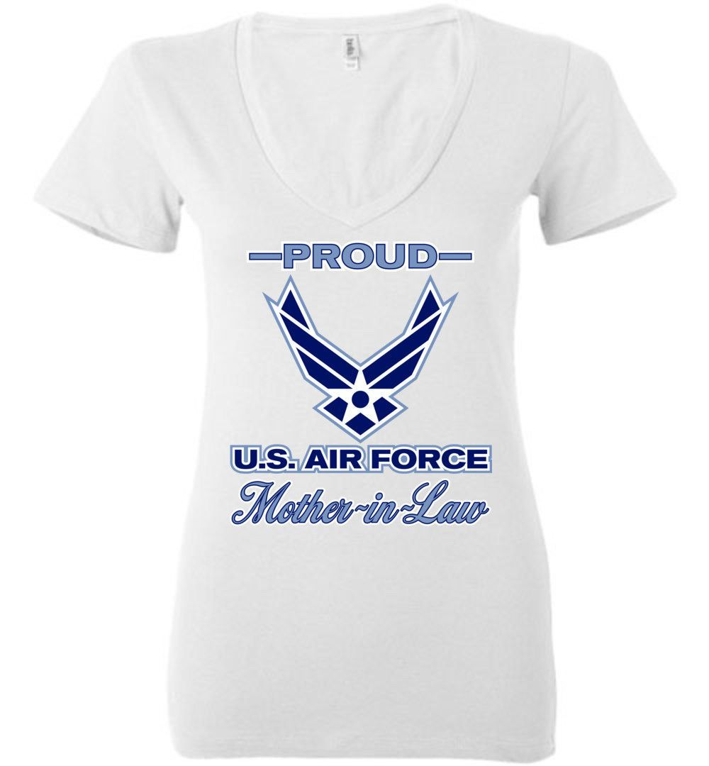 Proud U.S. Air Force Mother-in-Law Women's Deep V-Neck T-Shirt