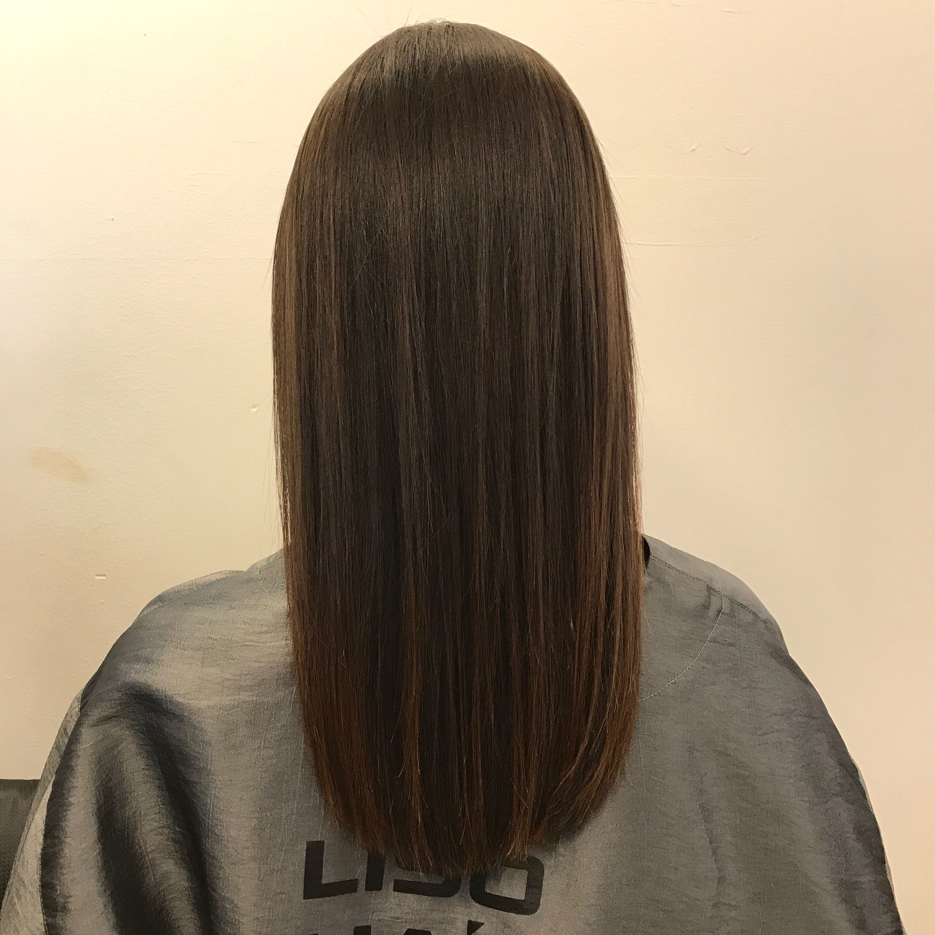 6 3 17 Straight Medium Length Dark Hair Straight Perm Sleek Dark Hair Dark Hair Medium Length Hair Straight Balayage Hair Blonde Long