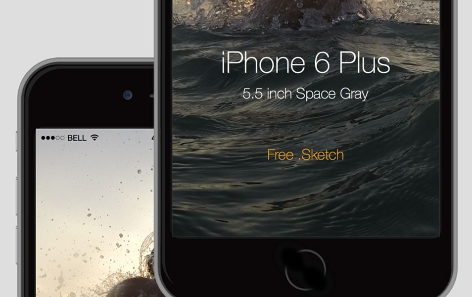 iPhone 6 Plus mock up free .sketch Free iphone 6, Free
