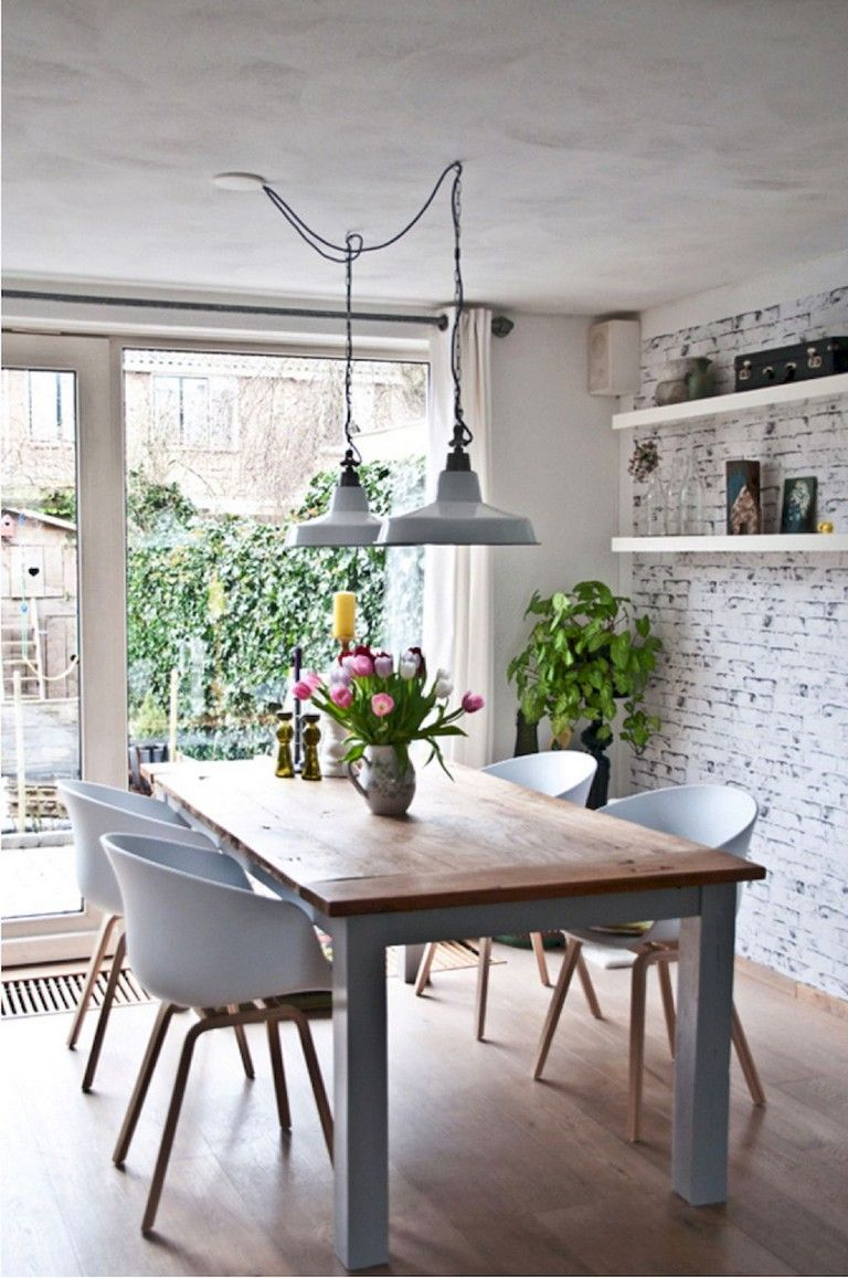 50 Awesome Small Dining Room Table Ideas Diningroomideas Diningroomdecorating Diningroomd Dining Room Small Scandinavian Dining Room Dining Room Industrial
