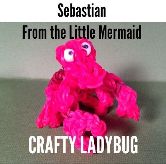 "Rainbow loom Sebastian from ""The Little Metmaid"""