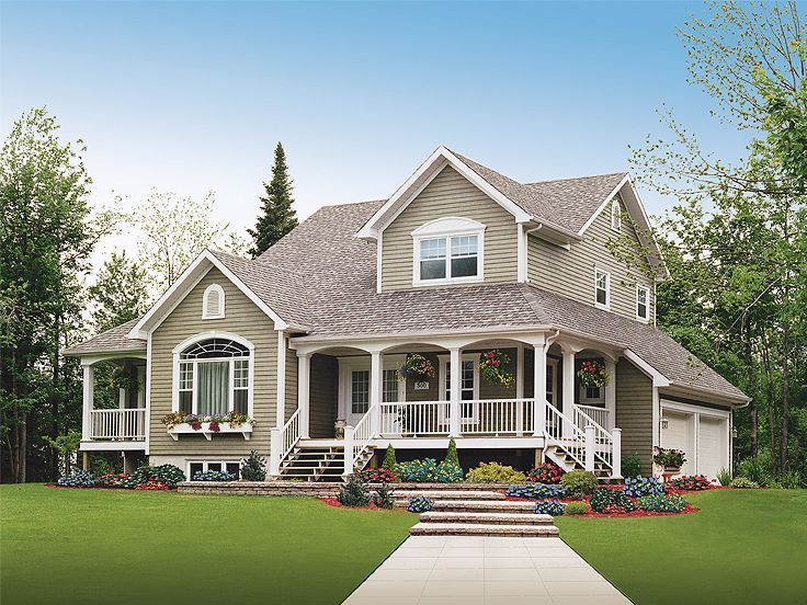 Super Country House Photo 027H 0056 Thehouseplanshop Com Largest Home Design Picture Inspirations Pitcheantrous