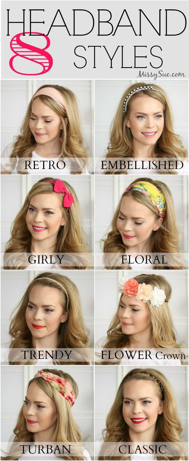 Ways To Wear Headbands Headband Hairstyles Long Hair Styles Headband Styles