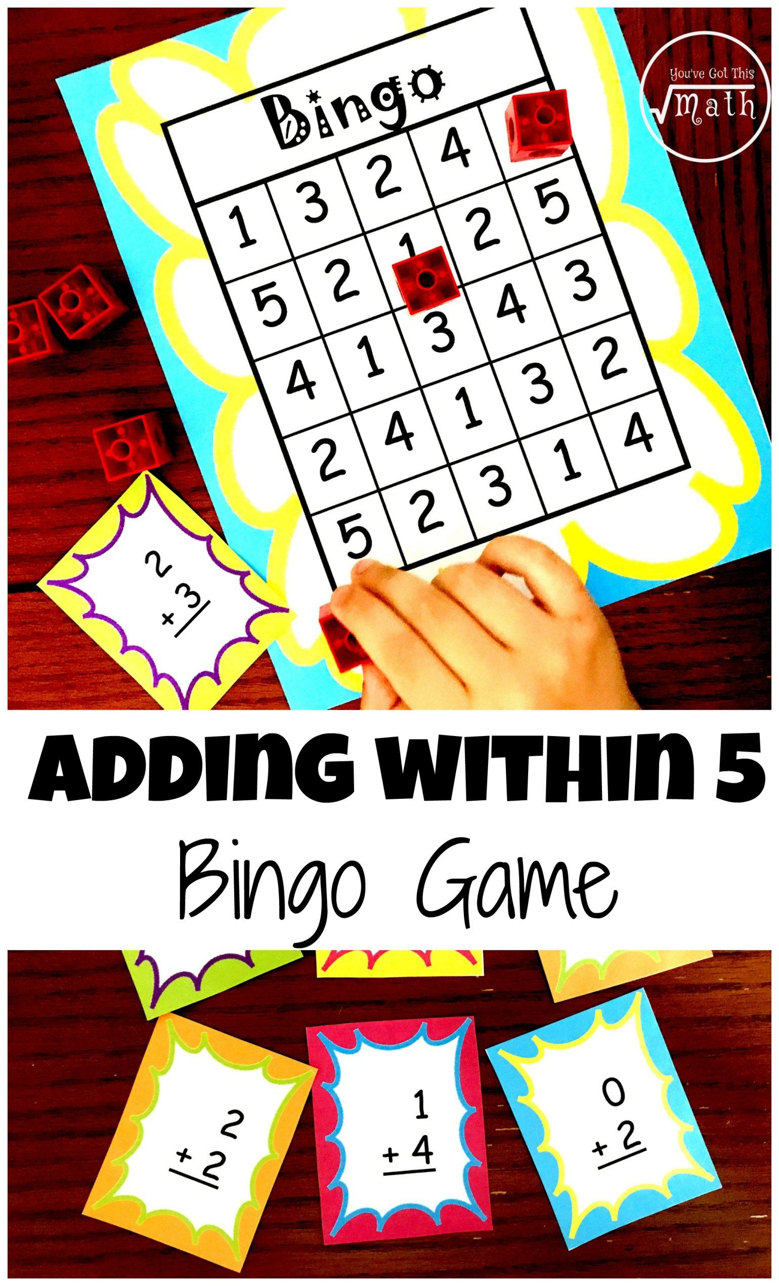 Here S A Free Bingo Game To Help Children Practice Adding