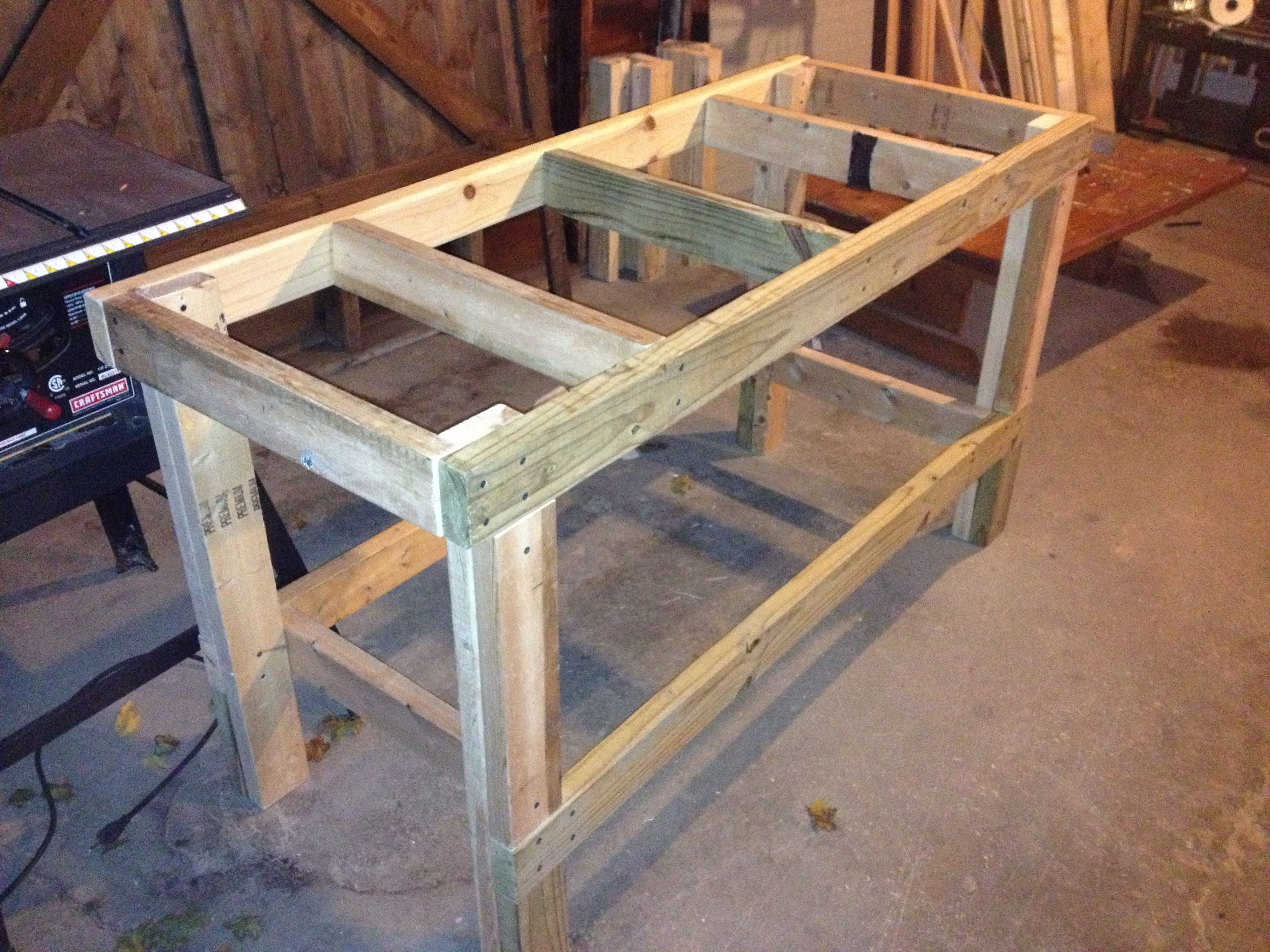 Work Table Design Quick And Easy Workbench Workbench In 2019 Wooden Work