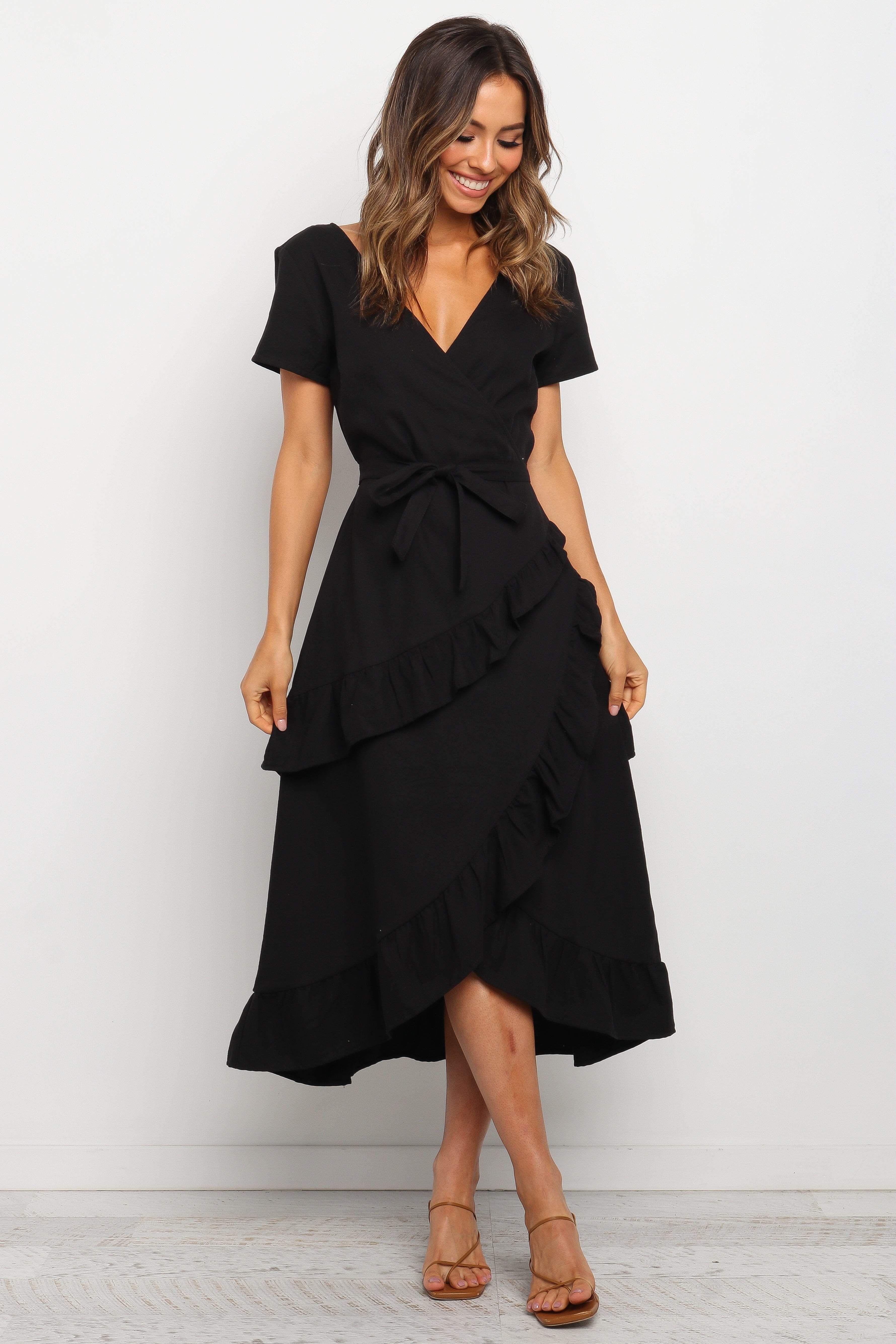Trevi Dress Black 2 Black Dresses Classy Black Dress Outfit Casual Black Dress Outfits [ 5338 x 3559 Pixel ]
