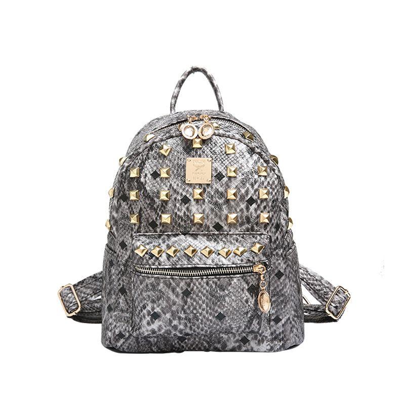 d31b58687e6a China Fashion Designer Women Rivet Bag Leather Backpacks for Ladies - China Rivet  Backpacks