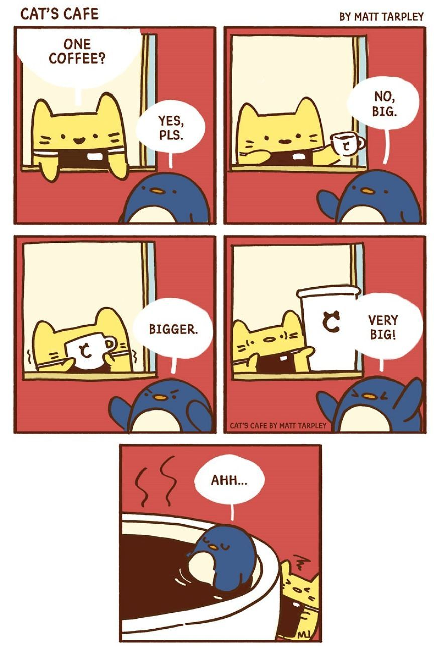 A (Cat's) Café For Everyone (With images) Funny comic