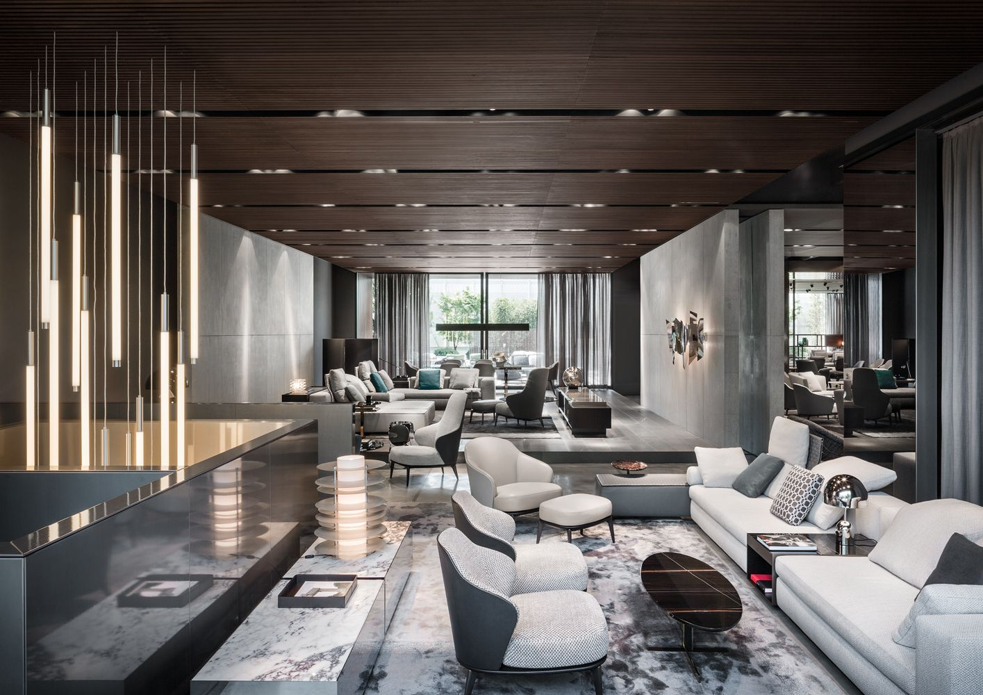 Interior Design Furniture: Minotti Showroom, Milan, Italy