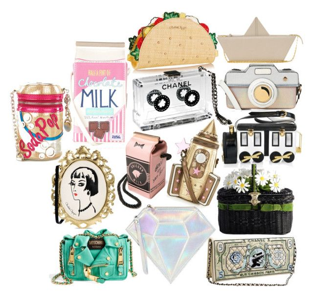 """""""Novelty bags prt3"""" by abbitsachan ❤ liked on Polyvore featuring Accessorize, Charlotte Olympia, Moschino Cheap & Chic, Braccialini, Chanel, WithChic and Moschino"""