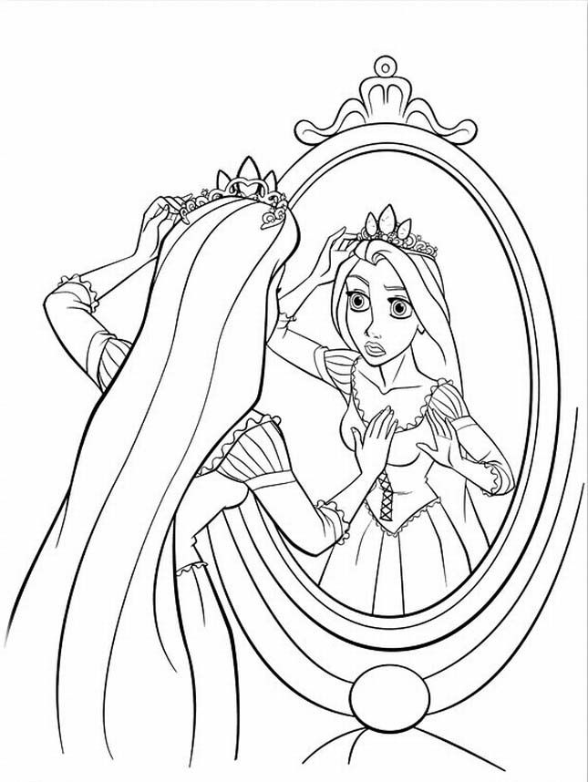Disney Rapunzel Princess Coloring Pages 14 cakepins.com | Coloring ...