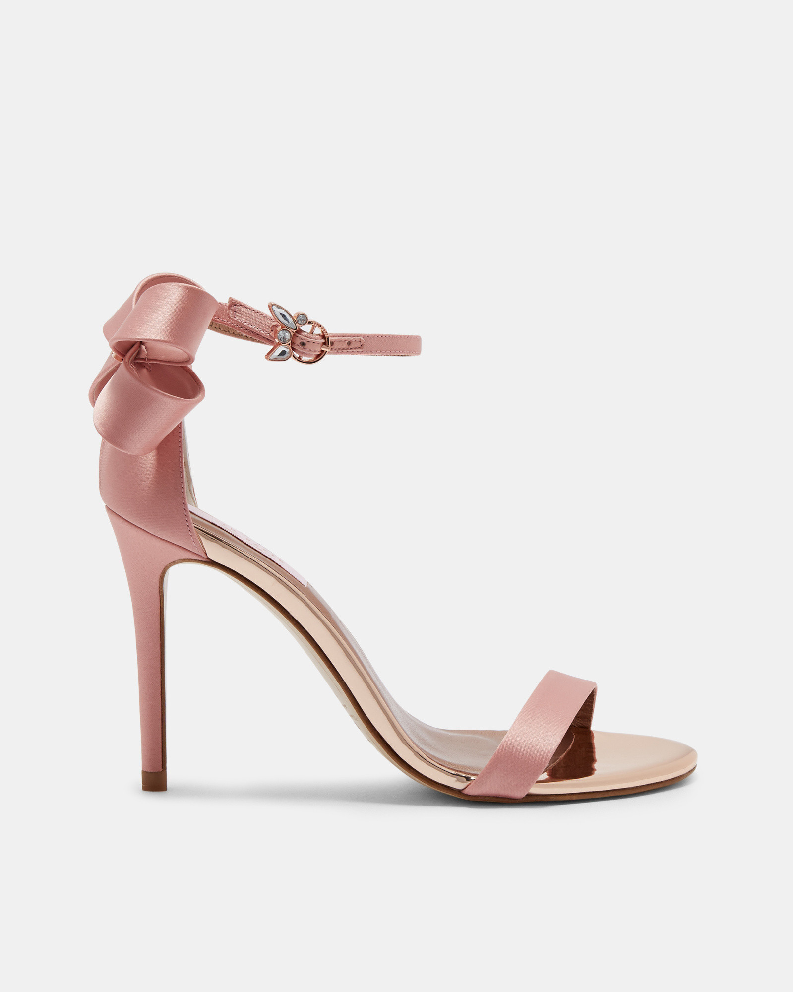 4105d30b838 Bow Detail Heeled Sandals