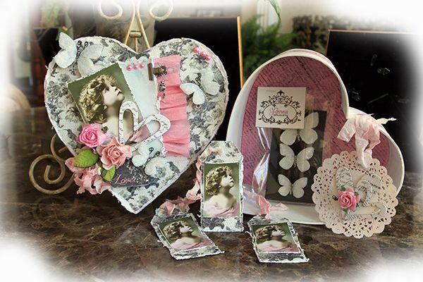 ELITE4U Renea Altered Valentines Day Memory Keepsake Book Box Premade Scrapbook | eBay