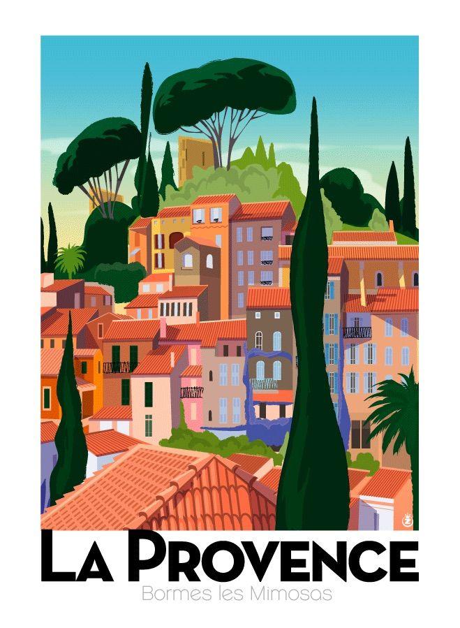 La Provence Travel Poster Vintage Travel Posters Vintage