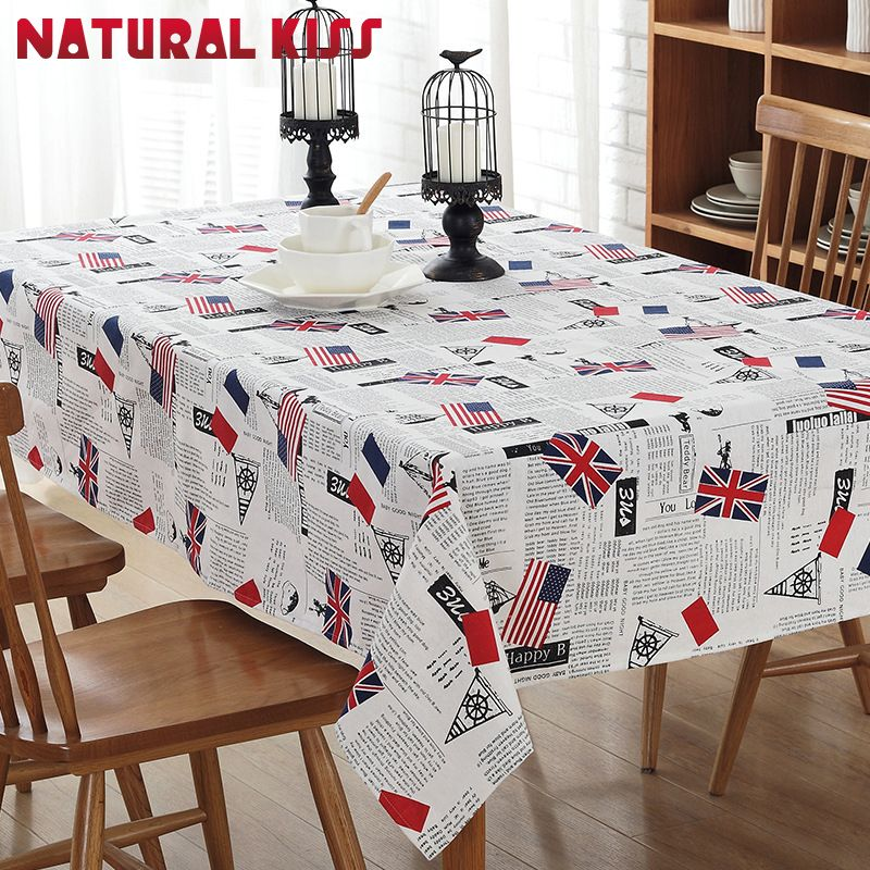 Fashion Decoration Cotton Linen Table Cloth Small Fresh Dinner Table Cover  Antependium Cloth Tea Tablecloth Christmas
