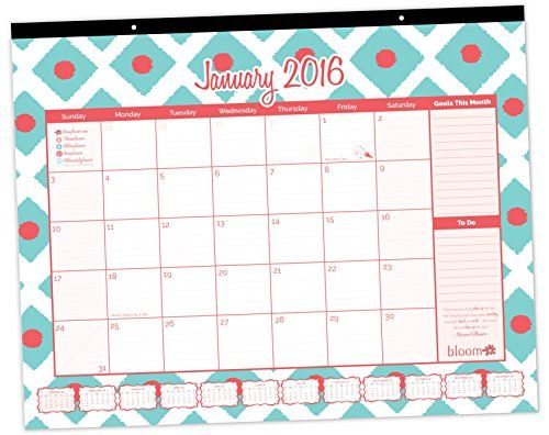 bloom daily planners 2016 calendar year desk calendar desk pad