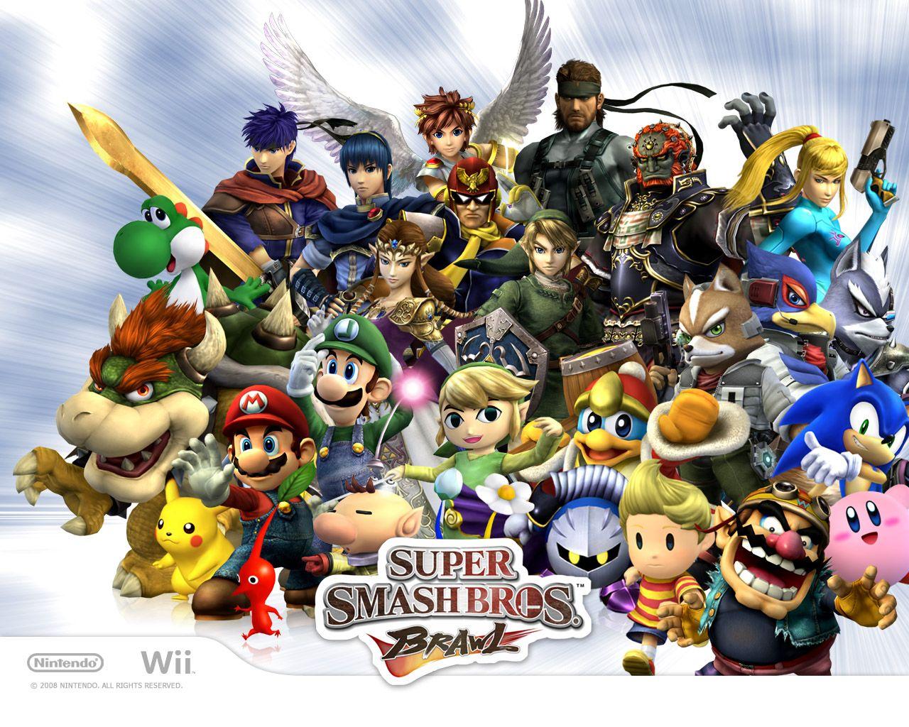 Super Smash Bros Brawl 2008 Nintendo Wii Wallpaper Super